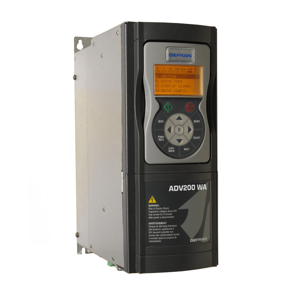 GefranVector inverter for Water Treatment and HVAC systems ADV200 WA